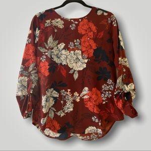 Van Heusen 3/4 Sleeve Floral Top: Size SP